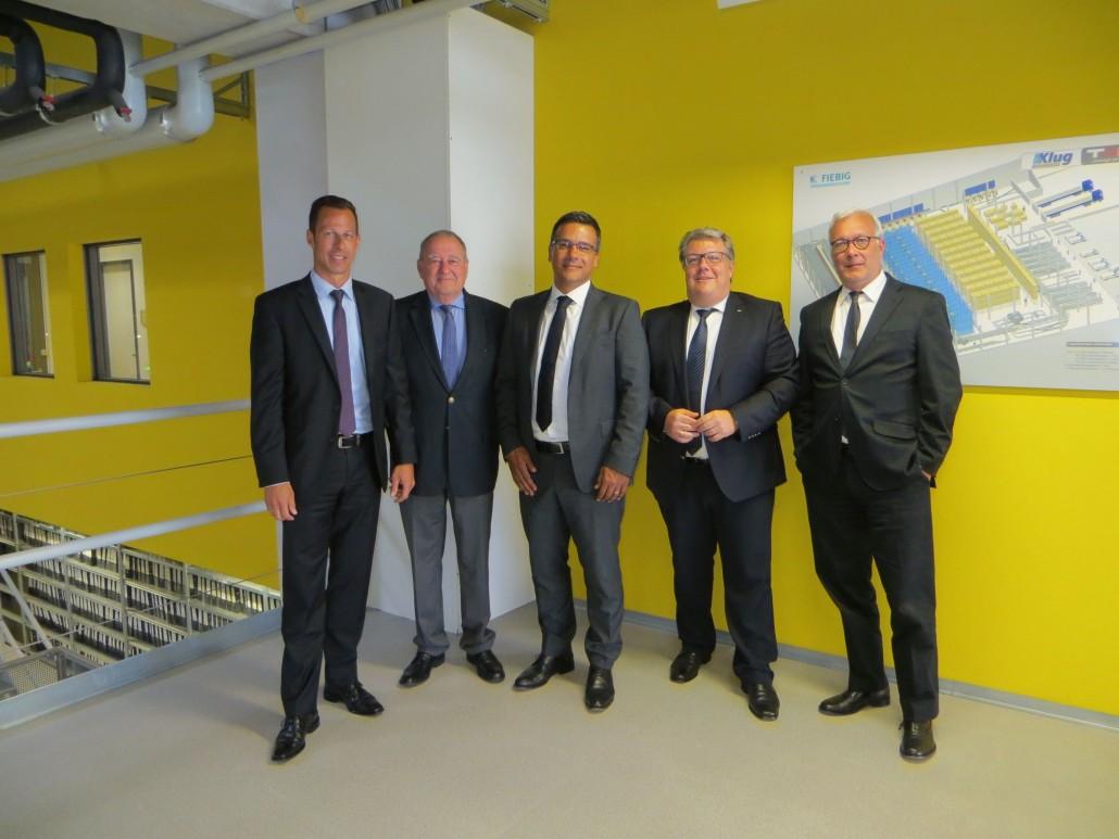 Sascha Greis  (Leiter Vertrieb), Fritz Becker (Vorsitzender DAV), Metin Ergül  (Expoharm-Chef), Andreas Sauer (Geschäftsführer), Peter Steinke, (Govi-Verlag-Geschäftsführer) - v. l.